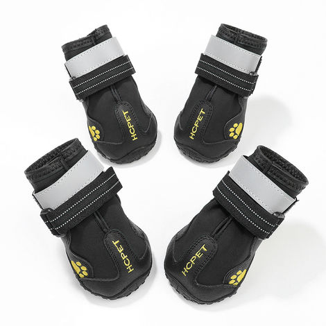 Dog Boots Waterproof Shoes for Dogs Sole 4PCS black-size 6