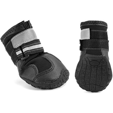 """main image of """"Dog Boots,Waterproof Dog Shoes,Dog Booties with Reflective Strips Anti-Slip Sole Outdoor Dog Shoes for Medium Dogs"""""""
