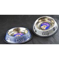 Dog Bowl Anti Skid Antique Food Water Dog Print Paw Print 400ml