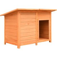 Dog Cage Solid Pine & Fir Wood 120x77x86 cm