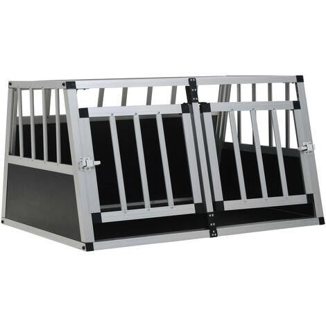 Dog Cage with Double Door 89x69x50 cm