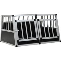 Dog Cage with Double Door 89x69x50 cm