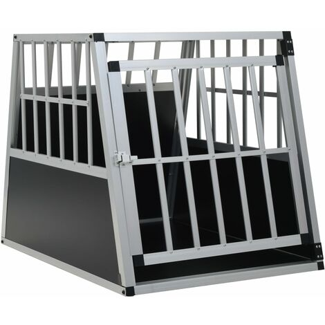 Dog Cage with Single Door 65x91x69.5 cm - Silver