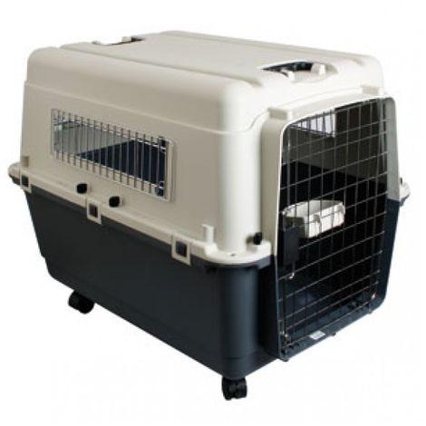 Dog CAT Transport Box RED 90 x 60 x 68 cm