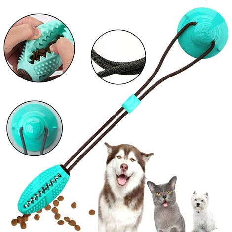 """main image of """"Dog Chew Toy, Pet Molar Bite Toy with Suction Cup Interactive Dog Toys Food Dispensing Chew Toys Dispenser (Round)"""""""