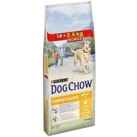 Dog Chow - Croquettes Complet au Poulet pour Chien Adulte - 14Kg + 2,5Kg Gratuits