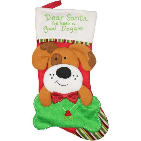 Dog Christmas Socks Gift Bag Christmas Tree Pendant Decoration XD20224 Brown