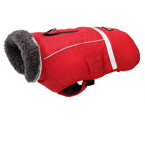 Dog Coats For Warm Winter Clothes PD10034 Red 3Xl