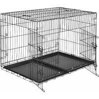 Dog crate collapsible