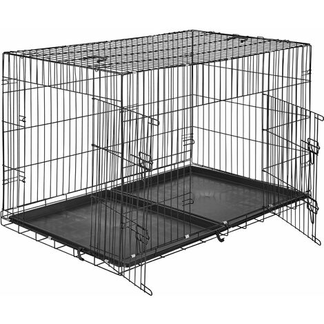 Dog crate collapsible - dog cage, pet carrier, puppy crate