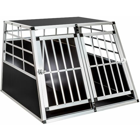 Dog crate double - dog cage, puppy crate, dog travel crate