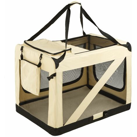 Dog crate foldable - dog cage, pet carrier, puppy crate