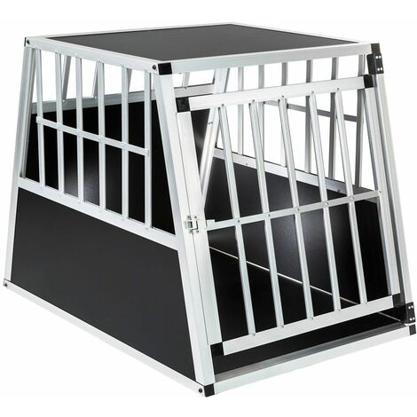Dog crate standard shape single - dog cage, puppy crate, dog travel crate - black