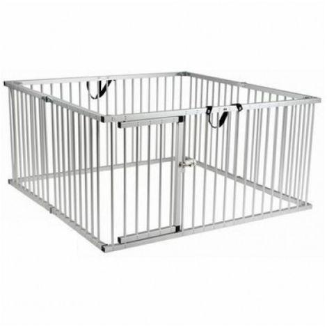 Dog Fence Cage Aluminum 8 x 63 x 100 cm