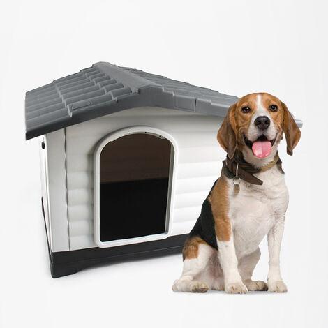 Dog house kennel in plastic medium-large size dogs indoor outdoor BIJOUX