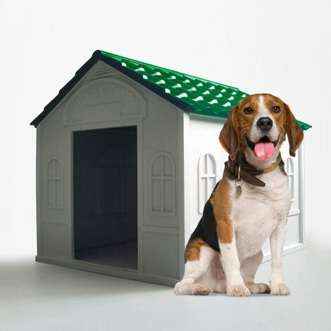 Dog house kennel in plastic medium large size indoor outdoor DOLLY