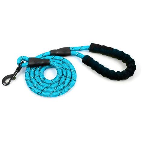 Dog Leash Reflective Nylon Blue