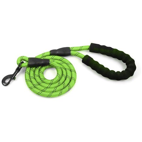 Dog Leash Reflective Nylon Green