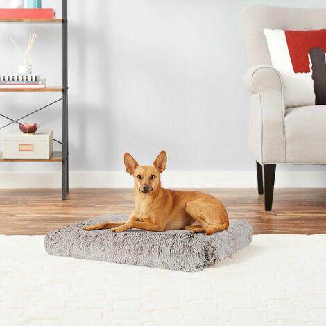 Dog Mat Mattress Bed Cushion Chew Resistant Washable Warm Pet Basket Brown L(71 x 43 x 10cm)