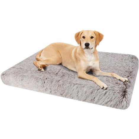 Dog Mat Mattress Bed Cushion Chew Resistant Washable Warm Pet Basket Brown XL(85 x 57 x 10cm)