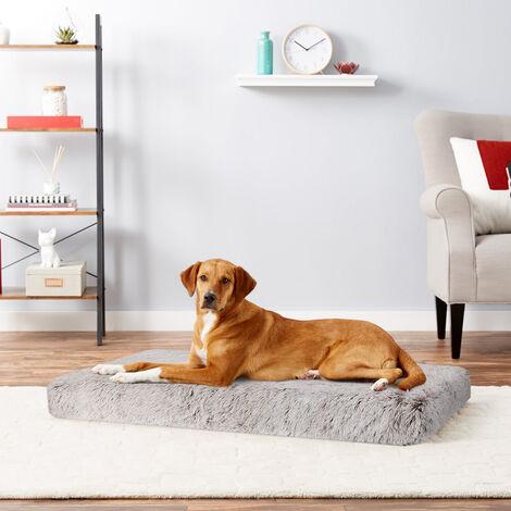 Dog Mat Mattress Bed Cushion Chew Resistant Washable Warm Pet Basket Brown XXL(115 x 70 x 12cm)