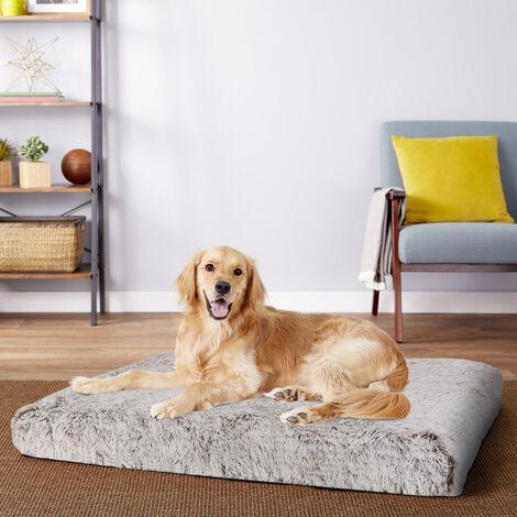 Dog Mat Mattress Bed Cushion Chew Resistant Washable Warm Pet Basket Brown XXXL(127 x 88 x 12cm)