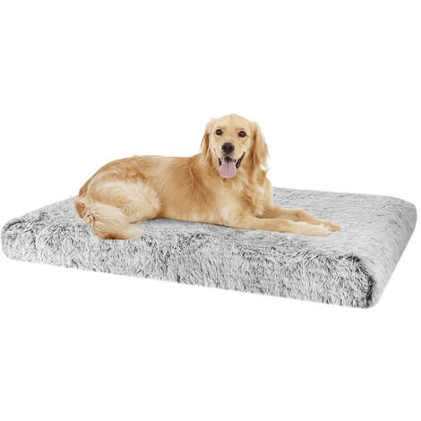 Dog Mat Mattress Bed Cushion Chew Resistant Washable Warm Pet Basket Grey XXL(115 x 70 x 12cm)