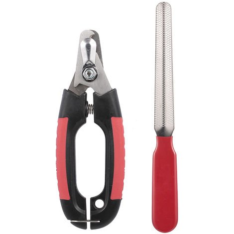 Dog Nail Clipper With Lock And Nail File Grooming Scissors Size S