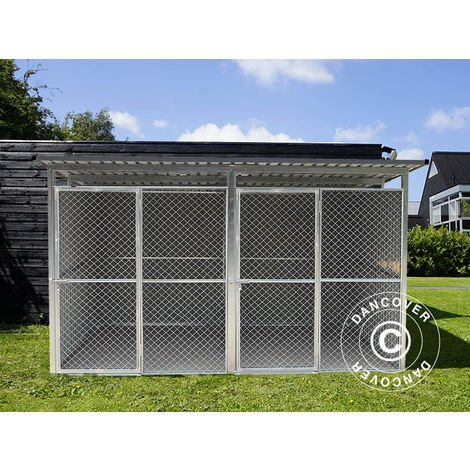 """main image of """"Dog run and kennel 3.22x2.75x1.86 m ProShed®, Anthracite"""""""