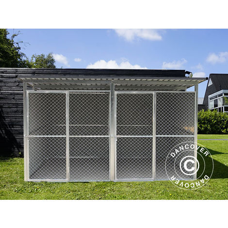 Dog run and kennel 3.22x2.75x1.86 m ProShed®, Anthracite