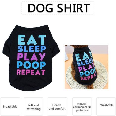 Dog Shirt Dog T-Shirts Dog Spring Summer Clothes Printed Pet Clothing Pet Summer Clothes for Puppy Dogs