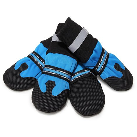 Dog Shoes Boots Soft Nonslip Autumn and Winter Boots blue-XL