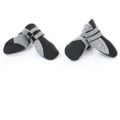 Dog Shoes Boots Soft Nonslip Sole Mesh Boots 4PCS black-size XL