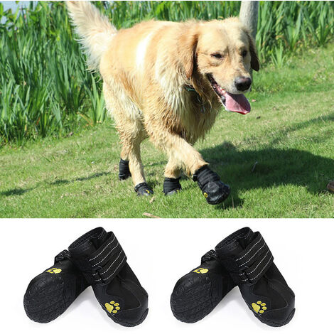 Dog Shoes Rain Boots Waterproof Dog Shoes 4 PCS size 8