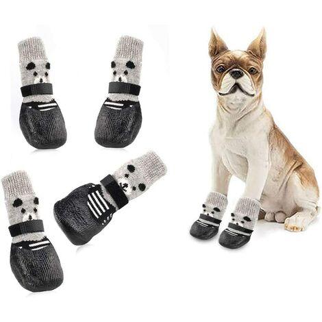 "main image of ""Dog Socks, Anti Slip Dog Socks, Dog Protection Socks, Dog Socks, Dog Shoes, Dog Boots, Traction Control for Small Dogs, Waterproof (S, Black)"""