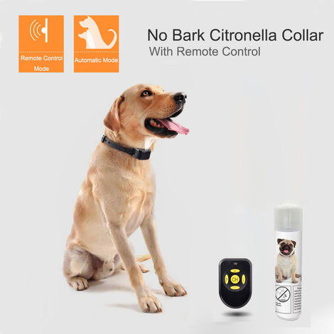Dog Spray Training Collar with Remote Control Rechargeable Dog Barking Collar Water Resistant Stop Barking Device for Small Medium Dogs