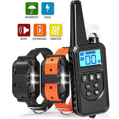 Dog Training Collar With Distance Of 800 Meters,2 Collars