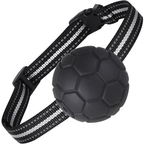 """main image of """"Dog training device, bark stopper, automatic electric shock dog collar, rubber black"""""""