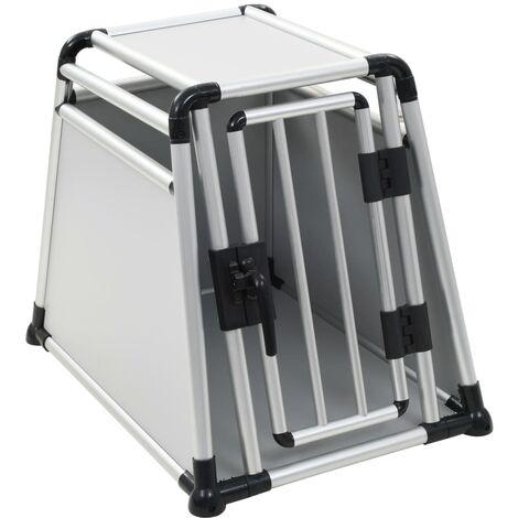 Dog Transport Box Aluminium M