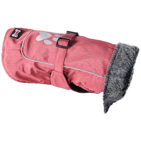 Dog Vest Cold Weather Dog Coats for Winter Warm Dog Clothes Red S