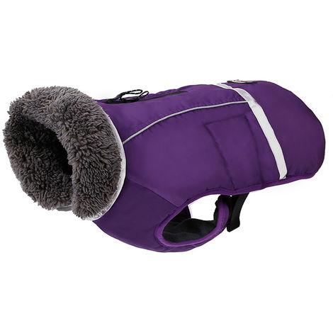Dog Vest Cold Weather Dog Coats PD10034 Purple XL
