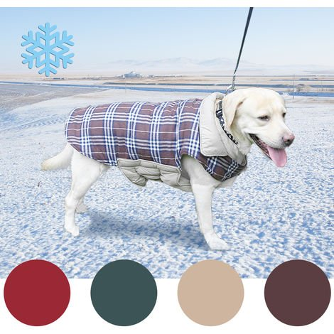 Dog Vest Cold Weather Dog Coats Warm Clothes Brown , S