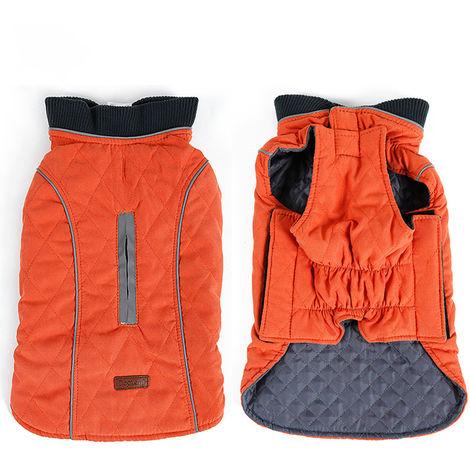 Dog Vest Dog Coats Winter Pet Outfit Clothes Orange , L