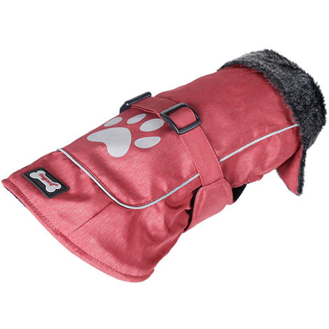 Dog Vest Dog Coats Winter Pet Outfit Clothes Red , 3XL