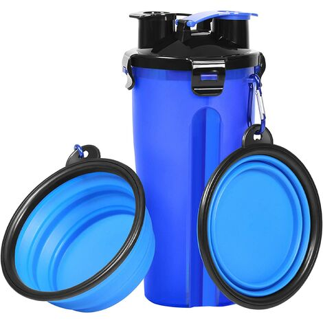 """main image of """"Dog water bottle travel dog bowl pet food container co.ukbo with collapsible dog bowl outdoor hiking travel dog water bowl"""""""