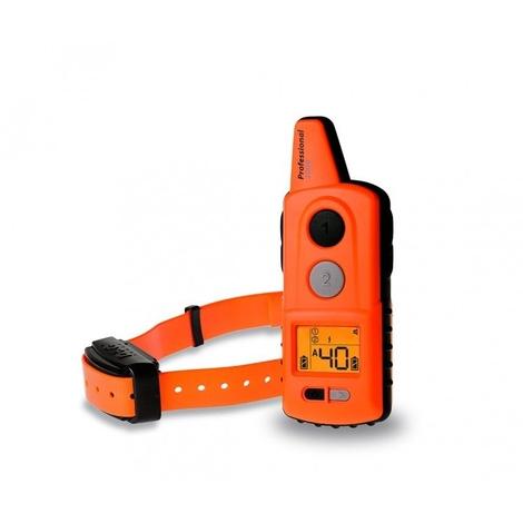 Dogtrace Pro 2000 Collar de Adiestramiento Profesional, apto para todas las razas, de largo alcance 2 Km, sumergible mando y collar, sonido vibración y shock, pila de larga duración
