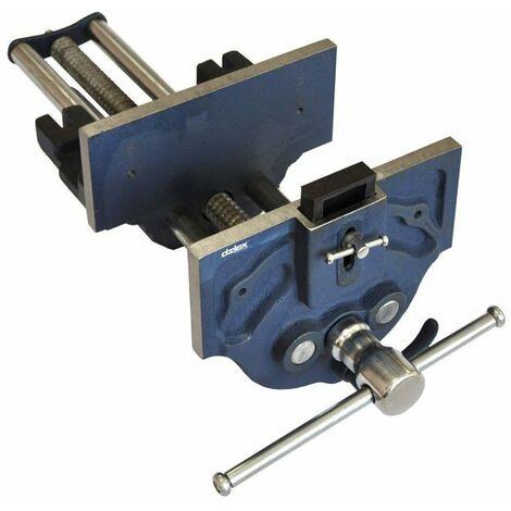 Dolex - Etau presse à serrage rapide 225 mm ouverture 340 mm base fixe pour menuisier 249SR