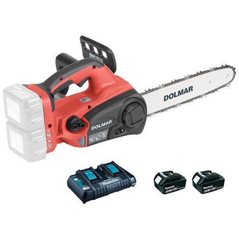 Dolmar Top Handle 30 cm Tronçonneuse sans fil 2 x 18V incl. 2 x batterie + chargeur - AS3731XE3