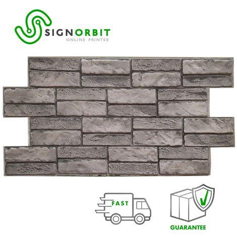 DOLOMITE - Pannelli parete in PVC finta pietra chiara effetto 3D 98x48cm x 0.4mm