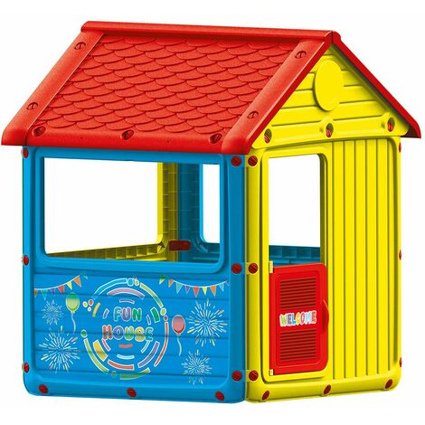 """main image of """"Dolu Kids My First House Wendy Playhouse Indoor or Outdoor Easy Installation - Multi-Coloured"""""""